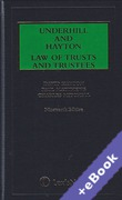 Cover of Underhill and Hayton: Law of Trusts and Trustees 19th ed with 1st Supplement (Book & eBook Pack)