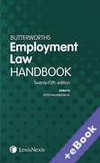 Cover of Butterworths Employment Law Handbook 2017 (Book & eBook Pack)