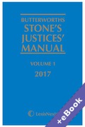 Cover of Butterworths Stone's Justices' Manual 2017 (Book & eBook Pack)