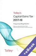 Cover of Tolley's Capital Gains Tax 2017-18 (Book & eBook Pack)