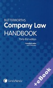 Cover of Butterworths Company Law Handbook 2017 (Book & eBook Pack)