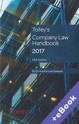 Cover of Tolley's Company Law Handbook 2017 (Book & eBook Pack)