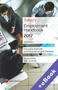 Cover of Tolley's Employment Handbook 2017 (Book & eBook Pack)