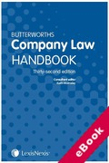 Cover of Butterworths Company Law Handbook 2018 (eBook)