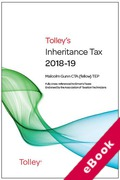 Cover of Tolley's Inheritance Tax 2018-19 (eBook)
