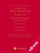 Cover of Laddie, Prescott and Vitoria: The Modern Law of Copyright (eBook)