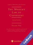 Cover of Laddie, Prescott and Vitoria: The Modern Law of Copyright (Book & eBook Pack)
