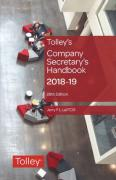 Cover of Tolley's Company Secretary's Handbook 2018-19