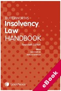Cover of Butterworths Insolvency Law Handbook 2018 (eBook)