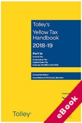 Cover of Tolley's Yellow Tax Handbook 2018-19 (eBook)