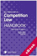 Cover of Butterworths Competition Law Handbook 2018 (eBook)