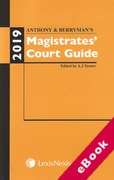 Cover of Anthony and Berryman's Magistrates Court Guide: 2019 (eBook)