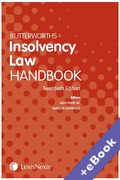 Cover of Butterworths Insolvency Law Handbook 2018 (Book & eBook Pack)