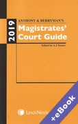 Cover of Anthony and Berryman's Magistrates Court Guide: 2019 (Book & eBook Pack)