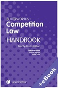Cover of Butterworths Competition Law Handbook 2018 (Book & eBook Pack)
