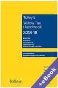 Cover of Tolley's Yellow Tax Handbook 2018-19 (Book & eBook Pack)