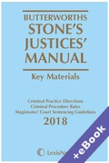 Cover of Butterworths Stone's Justices' Manual 2018 (Book & eBook Pack)