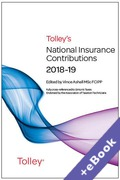 Cover of Tolley's National Insurance Contributions 2018-19 (Book & eBook Pack)
