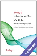 Cover of Tolley's Inheritance Tax 2018-19 (Book & eBook Pack)