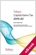 Cover of Tolley's Capital Gains Tax 2019-20 (eBook)