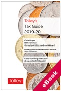 Cover of Tolley's Tax Guide 2019-20 (eBook)