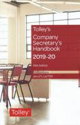 Cover of Tolley's Company Secretary's Handbook 2019-20