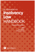 Cover of Butterworths Insolvency Law Handbook 2019