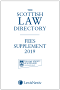 Cover of The Scottish Law Directory: Fees Supplement 2019