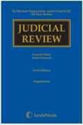 Cover of Supperstone, Goudie and Walker: Judicial Review 6th ed: 1st Supplement