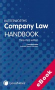 Cover of Butterworths Company Law Handbook 2019 (eBook)