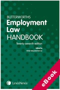 Cover of Butterworths Employment Law Handbook 2019 (eBook)