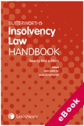 Cover of Butterworths Insolvency Law Handbook 2019 (eBook)