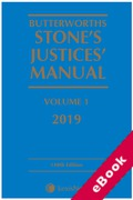 Cover of Butterworths Stone's Justices' Manual 2019 (eBook)