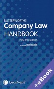 Cover of Butterworths Company Law Handbook 2019 (Book & eBook Pack)