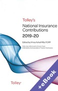 Cover of Tolley's National Insurance Contributions 2019-20 (Book & eBook Pack)