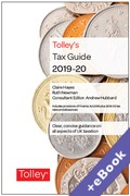 Cover of Tolley's Tax Guide 2019-20 (Book & eBook Pack)