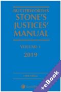 Cover of Butterworths Stone's Justices' Manual 2019 (Book & eBook Pack)
