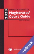 Cover of Anthony and Berryman's Magistrates Court Guide 2020 (Book & eBook Pack)