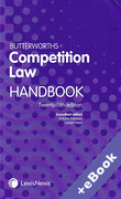 Cover of Butterworths Competition Law Handbook 2019 (Book & eBook Pack)