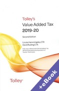 Cover of Tolley's Value Added Tax 2019-20: 2nd edition only (Book & eBook Pack)