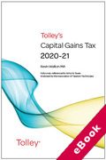 Cover of Tolley's Capital Gains Tax 2020-21 - Main Annual (eBook)