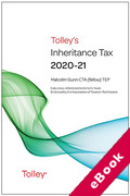 Cover of Tolley's Inheritance Tax 2020-21 (eBook)