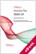 Cover of Tolley's Income Tax 2020-21 (eBook)