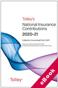 Cover of Tolley's National Insurance Contributions 2020-21 (eBook)