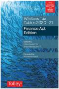Cover of Whillans Tax Tables 2020-21: Finance Act Edition