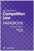 Cover of Butterworths Competition Law Handbook