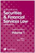 Cover of Butterworths Securities and Financial Services Law Handbook 2019