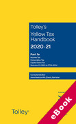 Cover of Tolley's Yellow Tax Handbook 2020-21 (eBook)