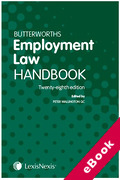 Cover of Butterworths Employment Law Handbook 2020 (eBook)