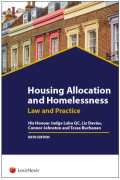 Cover of Housing Allocation and Homelessness: Law and Practice